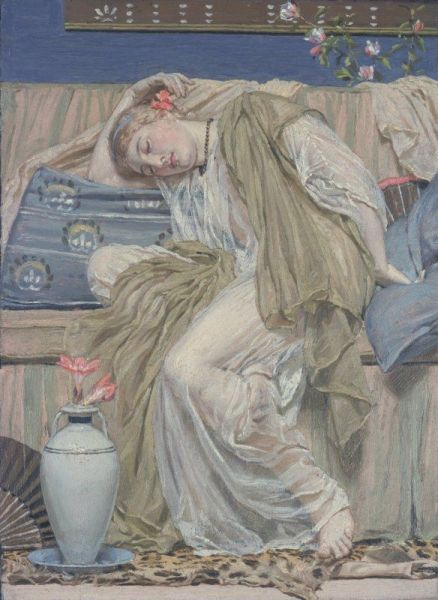 Albert Moore - A Sleeping Girl